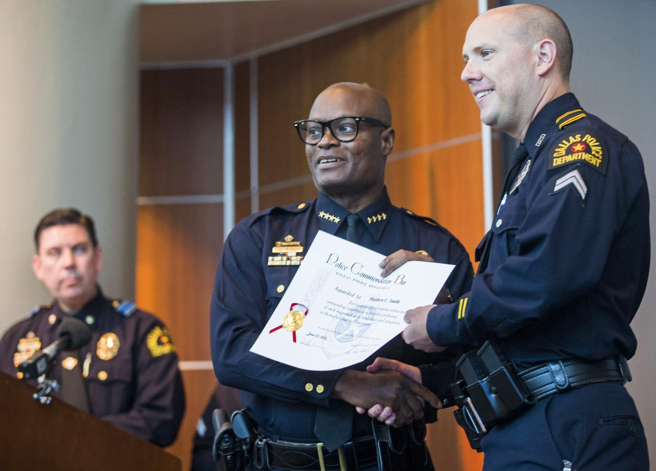 72 Dallas officers honored for response to attack on police