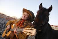 Kristyn Harris, an 18-year-old cowboy/country performer who sings and yodels. She sometimes performs singing on horseback. She'll be performing at the National Cowboy Poetry Gathering later this month.