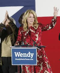 "In her concession speech Tuesday night in Fort Worth, Wendy Davis told supporters: ""Your work is not in vain. The only way we will have lost tonight is if we stop fighting.""( Michael Ainsworth  -  Staff Photographer )"