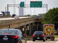 Northbound traffic exits I-45 at Lamar Street before Pennsylvania Avenue. The solution to the loss of the Pennsylvania exit will bump the cost from $150 million to $170 million.