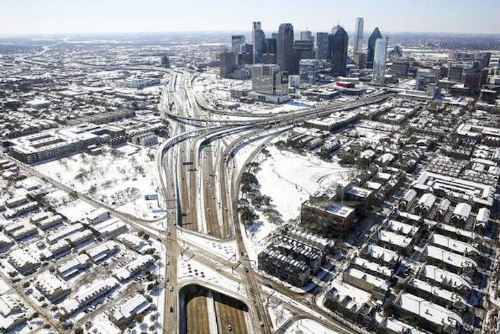 dallas fort worth snow sleet totals march