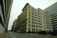The Thomas Building, built in the 1920s on Wood Street, met its demise.