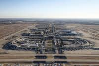 D/FW Airport from a helicopter.Nathan Hunsinger - Staff Photographer