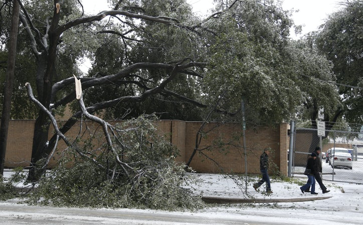 Ice Storm Hits D Fw In December 2013 Dallas News