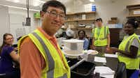 Dr. Joon-Hak Lee and a group of UNT Health Science Center students, including Julie Tsecouras, Constance Eshon, Hunter Taylor and Amanda Sunny, are trapping mosquitoes this summer for the city of Fort Worth as part of the West Nile surveillance program.