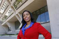 Dallas City Council member Tiffinni Young  is accused of conspiring with lawyer Chris Chestnut to commit barratry. Her attorney says she did nothing wrong. (Ron Baselice/Staff Photographer)