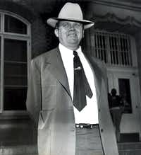 Benny Binion, who shifted his operations from Dallas to Las Vegas in the late '40s, was pictured on the steps of the federal courthouse in Waco in 1953.( File Photo  -  The Associated Press )
