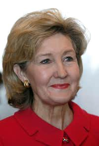 U.S. Senator Kay Bailey Hutchison  (R-TX) before addressing the Dallas Citizens Council at the Omni Dallas Hotel in Dallas on Monday, December 10, 2012.