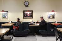 Pictures of Greece adorn the walls of the basement cafeteria at the Dallas County Courthouse, reflecting the homeland of proprietor Nick Dimoulakis.