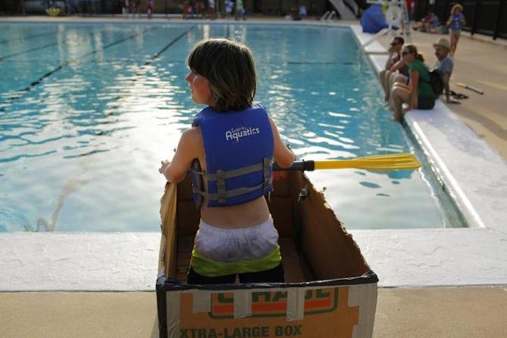 Did They Sink Or Sail Dallas Kids Build Race Cardboard Boats Dallas News East Dallas