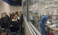 About 40 students in the rescue club recently toured the SPCA of Texas' Jan Rees-Jones Animal Care Center in Dallas.