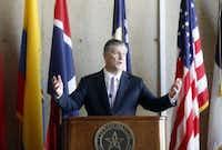 Mayor Mike Rawlings at City Hall.