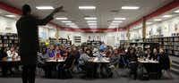 Jeanae Beal teaches a diversity training course to the staff at Toler Elementary School in Garland.