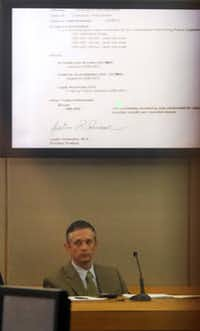 Toxicologist Justin Schwane testified during Wednesday's proceedings.