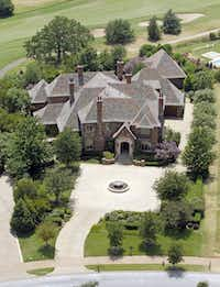 Saturday, July 16, 2011 aerial view of the Westlake, TX home which, according to Tarrant Appraisal District records is owned by Matthew K. Rose, Chairman and CEO of the BNSF Railway, which is headquartered in Fort Worth, and is a wholly owned subsidiary of Berkshire Hathaway Inc.