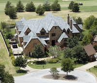 An aerial view shows a Westlake home, which according to Tarrant Appraisal District records is owned by Denise Jonas, mother of pop stars the Jonas Brothers - Kevin, Joseph and Nicholas.