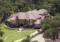 An aerial view shows the Westlake home, which according to Tarrant Appraisal District records is owned by Josh Hamilton of the Texas Rangers.