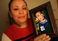 Jacqueline Aguilar's 26-year-old brother, Jose Aguilar, had spent nearly nine months in solitary confinement at the Ferguson Unit when he hanged himself in February 2014. His family disputes that his death was a suicide.( Louis DeLuca  -  Staff Photographer )