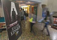 "National and foreign journalists visited the Texas Theatre as part of a JFK tour last week that culminated with a screening of National Geographic Channel's ""Killing Kennedy."""