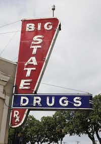 Big State Drug, an Irving institution, is coming back in two months as the Big State Fountain and Grill under new owners Rick and Susan Fairless. The pharmacy closed May 22 after 66 years on Main Street.(Staff photo by DAVID WOO - DMN)