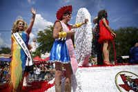 The Texas Gay Rodeo Association had a float in the Alan Ross Texas Freedom Parade on Cedar Springs Rd. in Dallas, Sunday, September 21, 2014. The gay, lesbian, bisexual and transgender parade had over 80 entries. (Tom Fox/The Dallas Morning News)(Tom Fox - Staff Photographer)