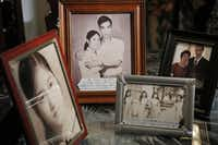 Photos trace some of the history  of Pho (Thomas) and Hoa (Mary) Nguyen, who left Vietnam by boat in 1980 and came to the U.S., eventually settling in Fort Worth. In 1988, the couple became American citizens and changed their names.(Kye R. Lee - Staff Photographer)