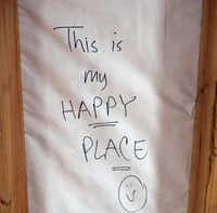 Norrgard, friends and guests have left messages throughout her house.