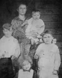 Daisy Pierce was photographed with her children, including Verda, Kathryn and Debbie. The son is George, who is no longer alive.(Courtesy photo)
