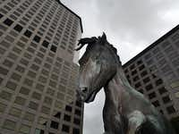 Williams Square, an office complex in Irving,Texas and home to the Mustangs of Las Colinas.( Ron Baselice  -  Staff Photographer )