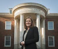 Molly McClung, a grad student at SMU's Cox School of Business, said she realized a job in investment banking on Wall Street wasn't for her. She knows she'll work long hours in private banking but said it should give her more balance.( Rex C. Curry  -  Special Contributor )