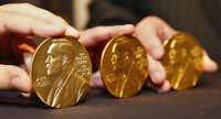 The Nobel medals presented to the Perot Museum on Friday bring the museum's collection to six, which will be displayed in a special case on the building's second floor.