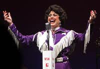 Gail Bliss sings before an admiring audience in Always ... Patsy Cline at Fort Worth's Casa Mañana Theatre.Steve Hamm - Special Contributor