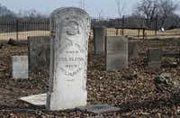 Among the markers at the Young Cemetery, which has been restored by volunteers, is that of Thomas Finley, a veteran of The War of 1812.(STEWART F. HOUSE - DMN Special Contributor)