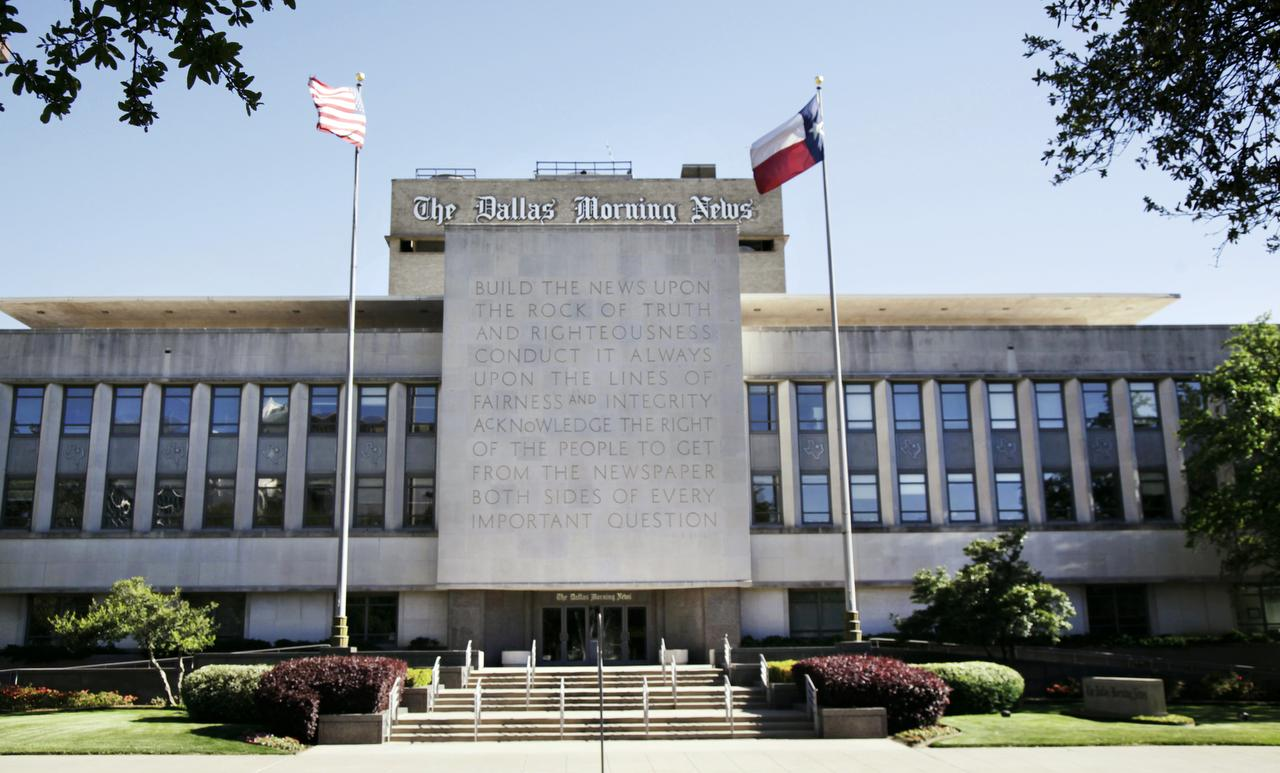 dallas morning news parent signs lease for crosstown move to statler