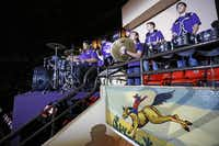 TCU's band entertained the crowd on TCU Night at the rodeo at Will Rogers Coliseum last week. The new arena will be constructed with the rodeo in mind, but it also will allow Fort Worth to become a draw for concerts and other events.( Ashley Landis  -  Staff Photographer )