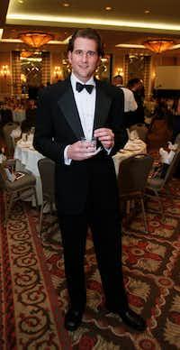 Award recipient Niven Morgan at the Rising Star Awards at the Park Cities Hilton Ballroom.