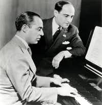 Richard Rodgers (at the piano) wrote sophisticated songs with Lorenz Hart.