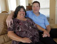 Cathy (left), 50, and John, 48, Orth of Plano, met at a toga party at Texas A&M and have been married 25 years.
