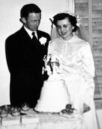 Courtesy photo of Jack and Joyce Milligan on their wedding day.