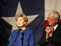 Sen. Kay Bailey Hutchison's husband, Ray, was by her side as she conceded the 2010 Texas gubernatorial race to incumbent Rick Perry. In hindsight, she's said, Perry's vulnerability in 2002 or 2006 might have given her a better shot.