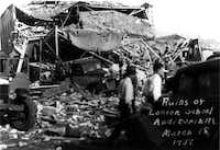 Ruins of New London school auditorium, March 18,  1937.