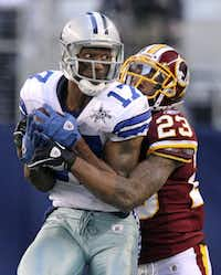 Sam Hurd was playing with the Dallas Cowboys for last year's Redskins game.