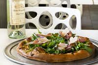 Get to Farley Girls in Galveston no later than 11:30 a.m. for burgers, salads, fish tacos and pizzas like this Prosciutto Pizza.