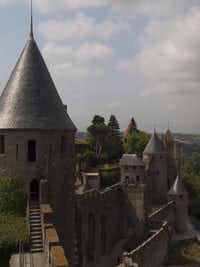 Carcassonne is the largest medieval walled city still standing in Europe, with two perimeter walls encircling it and a space between.