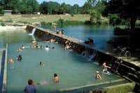 Blanco State Park's several swimming areas are conveniently close to downtown Blanco.Texas Parks and Wildlife Dept.