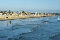 Pacific Beach is one of San Diego's most popular beaches, with a bustling boardwalk frequented by joggers, cyclists, skateboarders and rollerbladers.