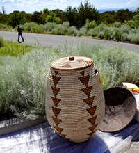 Kabai Kawana of Zambia crafted this woven basket for last year's market.