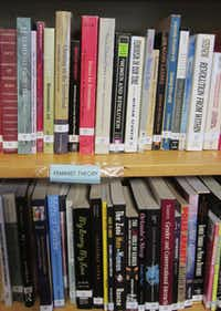 """A lending library is part of the feminist community center In Other Words, which inspired the Women & Women First bookstore on """"Portlandia."""""""