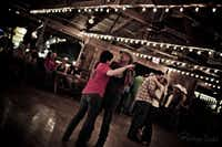 The dance hall in Luckenbach, Texas, is a fine place for two-stepping.