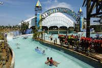 Visitors play in the Kristal River section of Schlitterbahn Galveston IslandSchlitterbahn